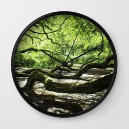 The wings of a mighty angel. Wall Clock