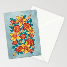 Flowers - Red Stationery Cards