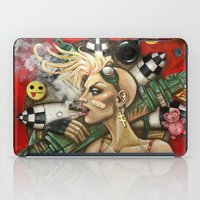 tank girl iPad Cases featuring Tank Girl Nouveau by Megan Mars