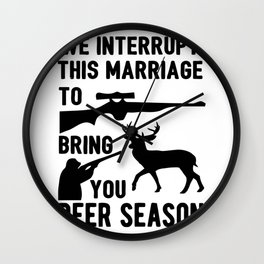We Interrupt This Marriage Wall Clock