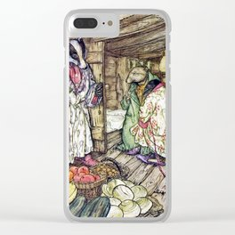 Arthur Rackham - The Wind in the Willows (1940) - Badger's winter stores Clear iPhone Case