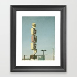 Vintage Gas Framed Art Print