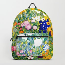 Flower Garden by Gustav Klimt vibrant Backpack
