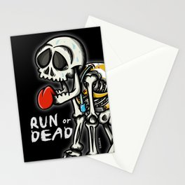 run or dead Stationery Cards
