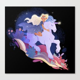 Stardust - Yvaine and her Unicorn Canvas Print
