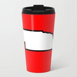 Nebraska Metal Travel Mug