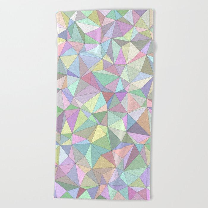 Happy triangles Beach Towel