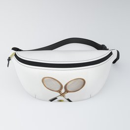 vintage Tennis rackets and ball Fanny Pack
