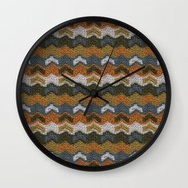 Flying V's Knit Wall Clock