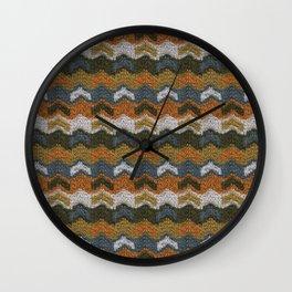 Flying V's Knit Wall Clock