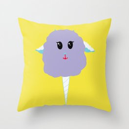 """""""Cotton Lamby"""" - cotton candy lamb - GREAT CHRISTMAS GIFT! Throw Pillow"""