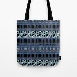 Black blue braided textiles . Tote Bag