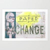 Paper Cut  Art Print