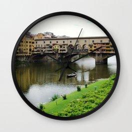 ponte vecchio, florence, italy Wall Clock