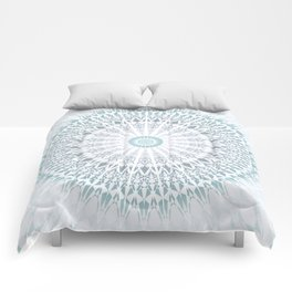 Teal Aqua Mandala Comforters