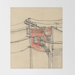 Wires Throw Blanket