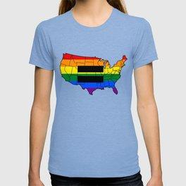 Gay Pride Parade LGBT Lesbian Gay Bi Trans Queer Pan T-shirt