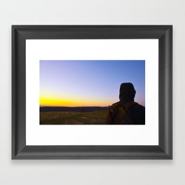 Facing Dawn Framed Art Print