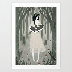 Mama Wolf  Art Print