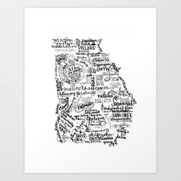 Georgia Lettered State Words Art Print