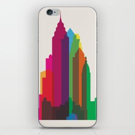 Shapes of Philadelphia accurate to scale iPhone Skin