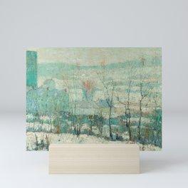 Ernest Lawson -  New York Farm in Winter Mini Art Print