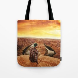 on top of canyonlands Tote Bag