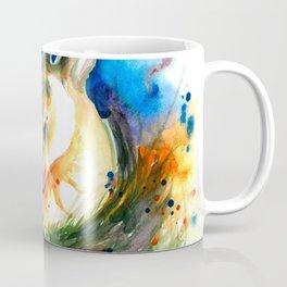 Baby Deer Sleeping - After My Original Watercolor On Heavy Paper Coffee Mug