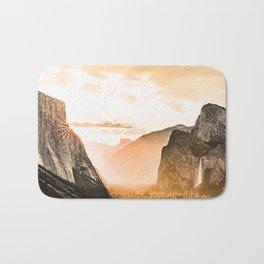 Yosemite Valley Burn - Sunrise Bath Mat