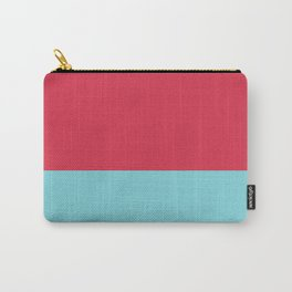 Pink Blue Minimal Home Decor Print Printable Art, Colorful Lines, Pattern, Modern Art Carry-All Pouch