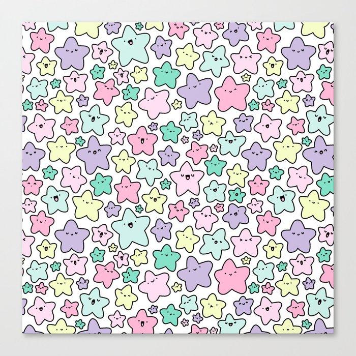 Pastel KiraKira Stars Canvas Print