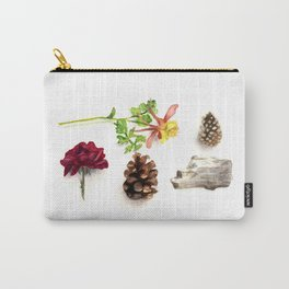 Flowers, Pinecones, and Driftwood Flatlay Carry-All Pouch