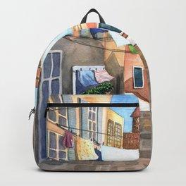 Sunny Italian street Backpack