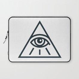 All Seeing Eye - Illuminati Pyramid Version 1 Laptop Sleeve