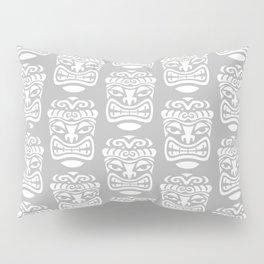 Tiki Pattern Grey Pillow Sham