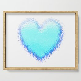 Fluffy Big Heart Serving Tray