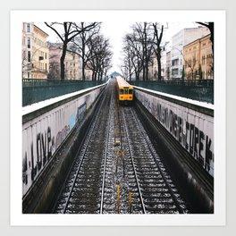 love - the yello metro. Art Print