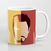 stark Mugs featuring Iron Stark by Nick Kemp