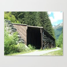 Snow Shed Canvas Print