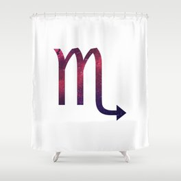 Starry Scorpio Symbol Shower Curtain
