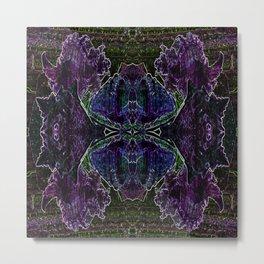 Blue Violet Seashell Square Metal Print