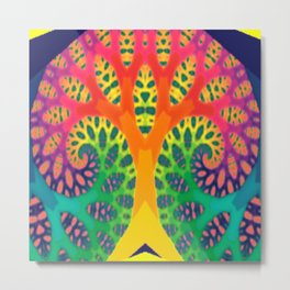 A Tree Dreaming In Color Metal Print