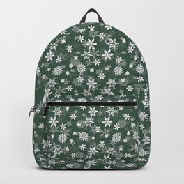 Christmas Evergreen Pine Garland Snow Flakes Backpack