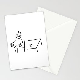 detective spy agent Stationery Cards