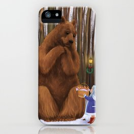 Bear and little girl iPhone Case