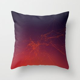 Sunset gradient connection Throw Pillow