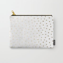 Golden Polka Dots Carry-All Pouch