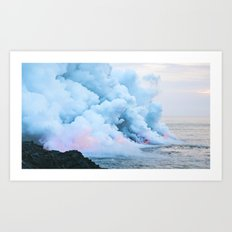 Smoke On The Water Art Print