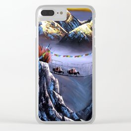 Panoramic View Of Everest Mountain Clear iPhone Case