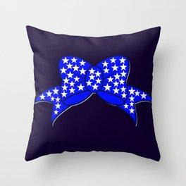 USA Bow- plain Throw Pillow